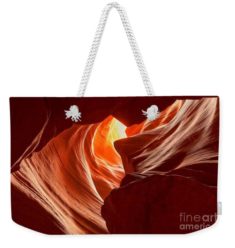 Woman In The Canyon Weekender Tote Bag featuring the photograph Old Woman In The Canyon by Adam Jewell