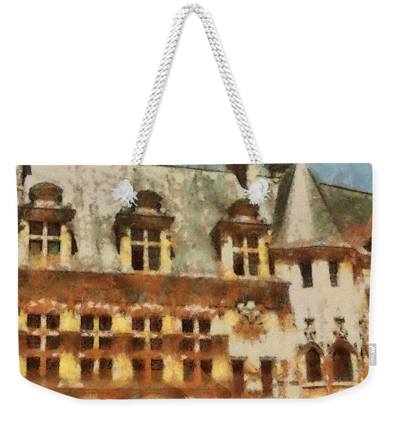 France Weekender Tote Bag featuring the painting Old World by Paulette B Wright