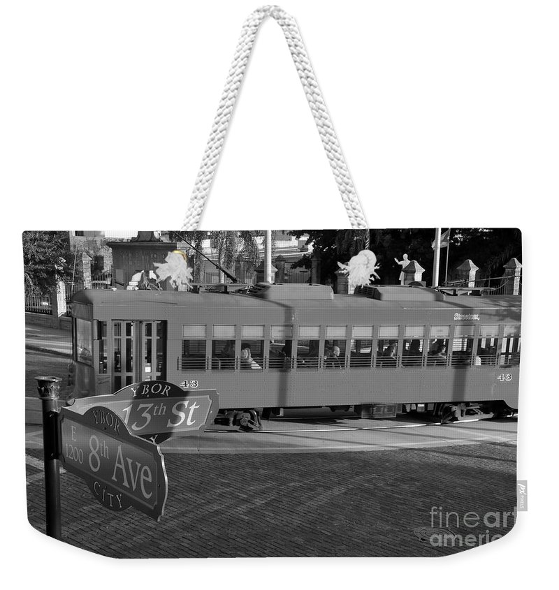 Ybor City Florida Weekender Tote Bag featuring the photograph Old Ybor City Trolley by David Lee Thompson