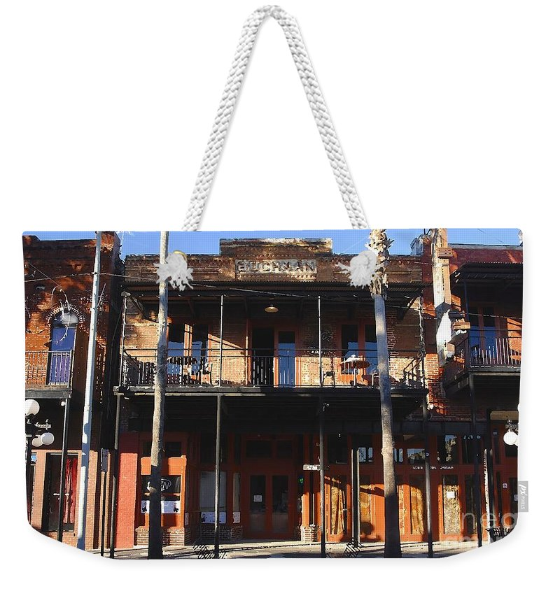 Ybor City Florida Weekender Tote Bag featuring the photograph Old Ybor by David Lee Thompson