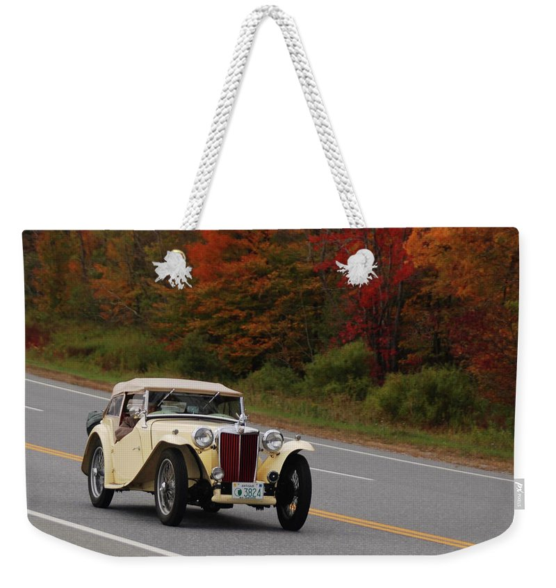 Mg Weekender Tote Bag featuring the photograph Old Yeller 8168 by Guy Whiteley