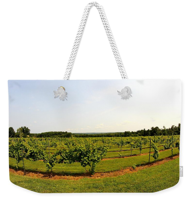 Winery Weekender Tote Bag featuring the photograph Old York Winery by Brian Manfra