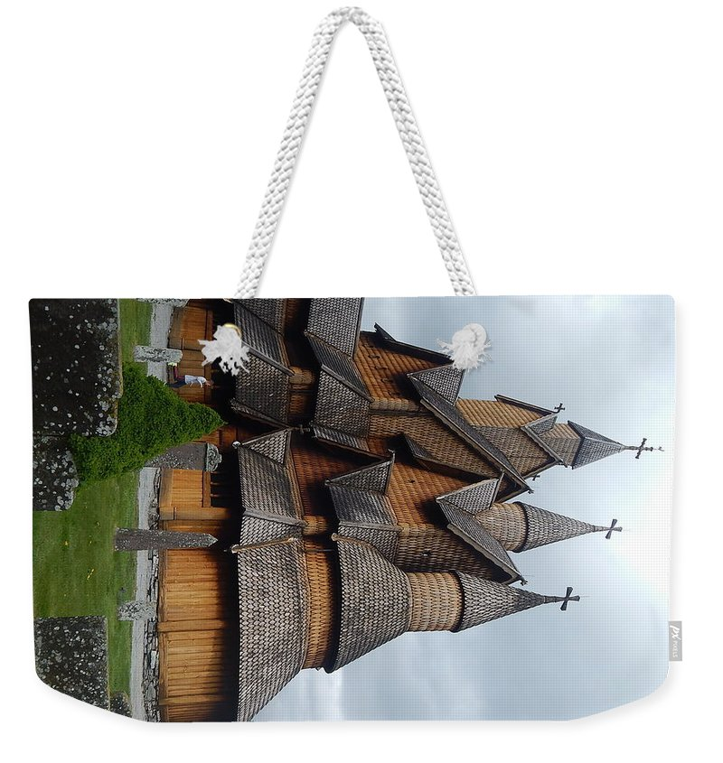 Church Weekender Tote Bag featuring the photograph Oldest Church In Norway by Alexis Ketner