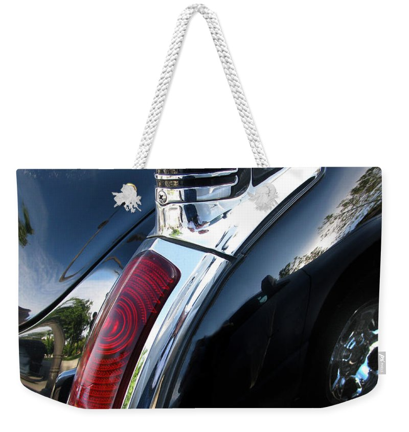 Oldsmobile 88 Weekender Tote Bag featuring the photograph Old's 88 Tailend by Peter Piatt