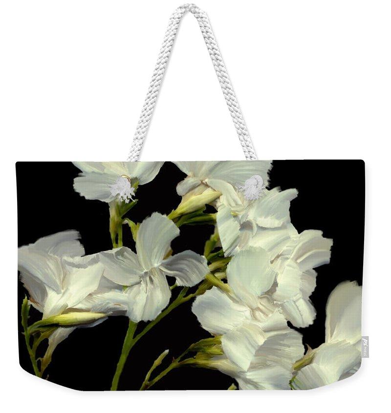 Flowers Weekender Tote Bag featuring the photograph Oleander by Kurt Van Wagner
