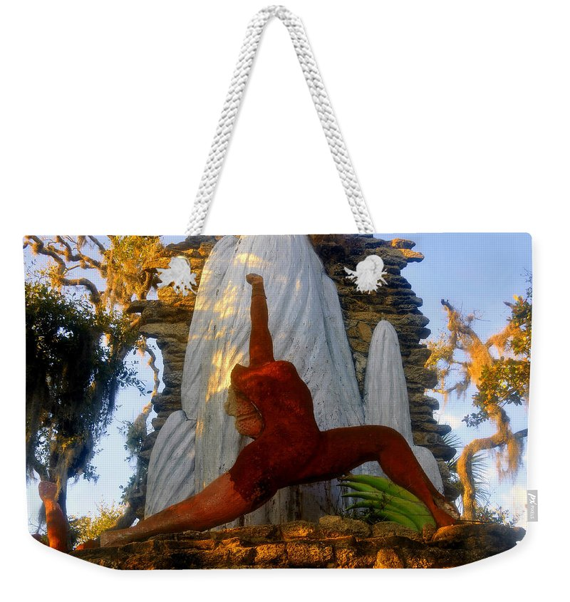 Timucua Indians Weekender Tote Bag featuring the photograph Oleeta Of The Timucua by David Lee Thompson