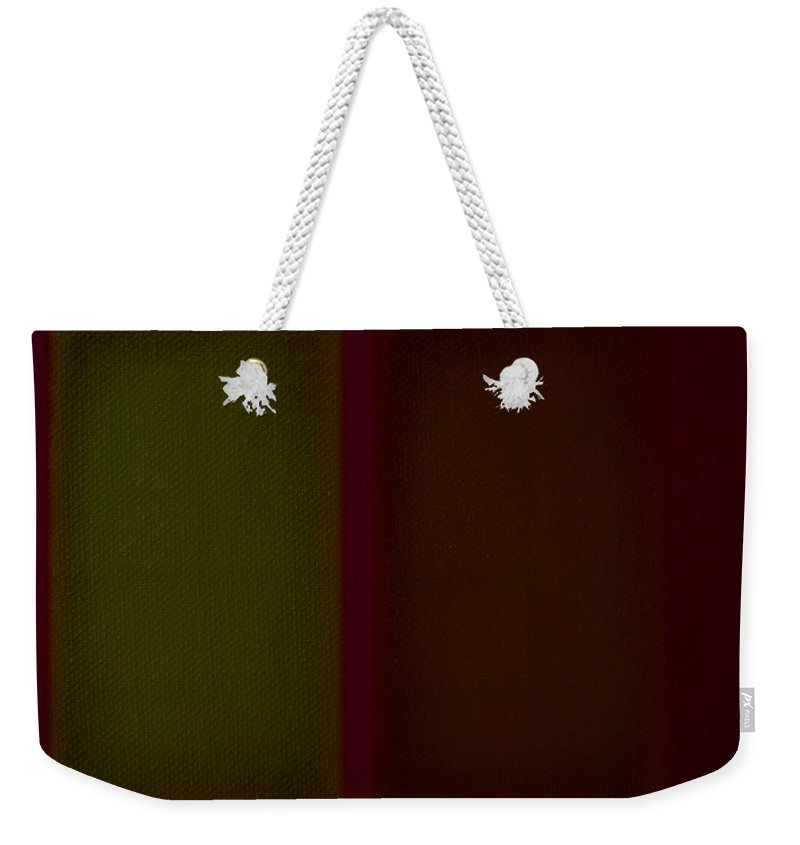 Rothko Weekender Tote Bag featuring the painting Olive Red by Charles Stuart