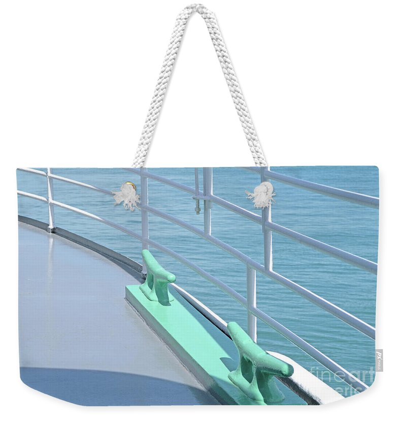 Deck Weekender Tote Bag featuring the photograph On Deck by Ann Horn