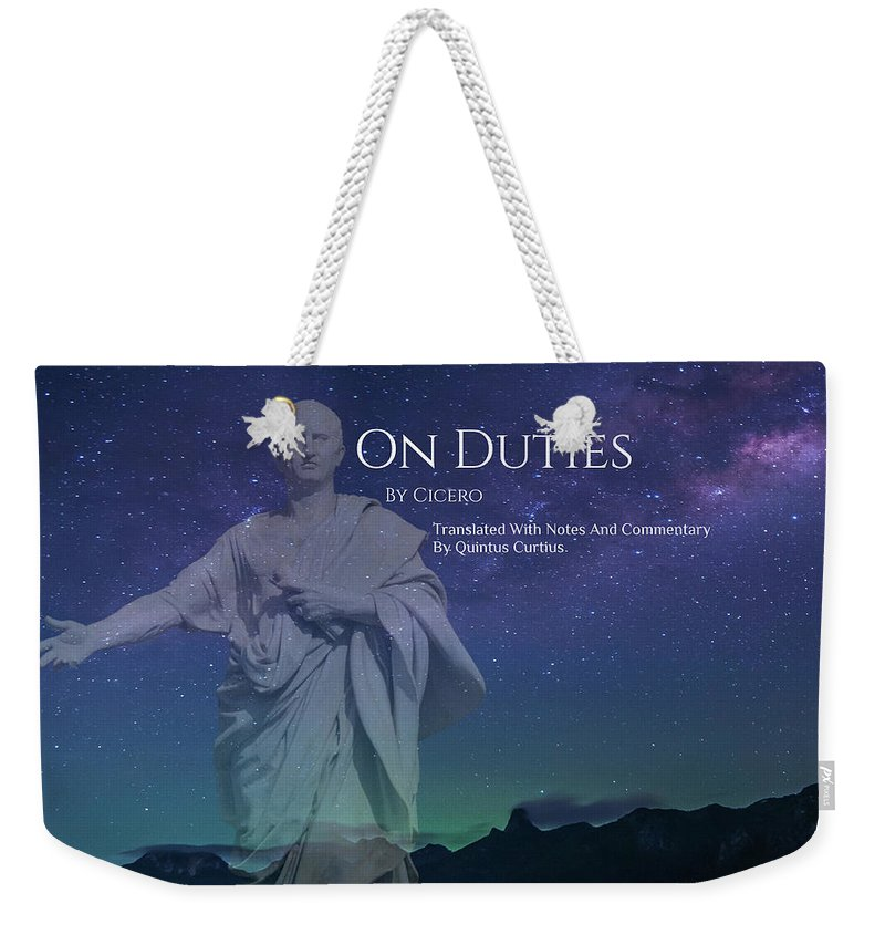 Quintus Curtius Weekender Tote Bag featuring the digital art On Duties by Quintus Curtius
