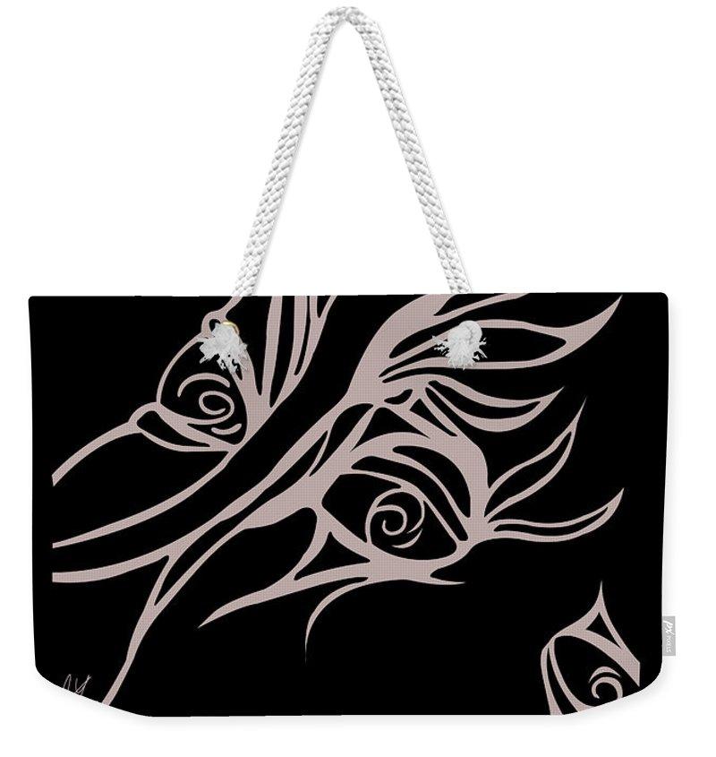 Weekender Tote Bag featuring the digital art On Looker by Jamie Lynn