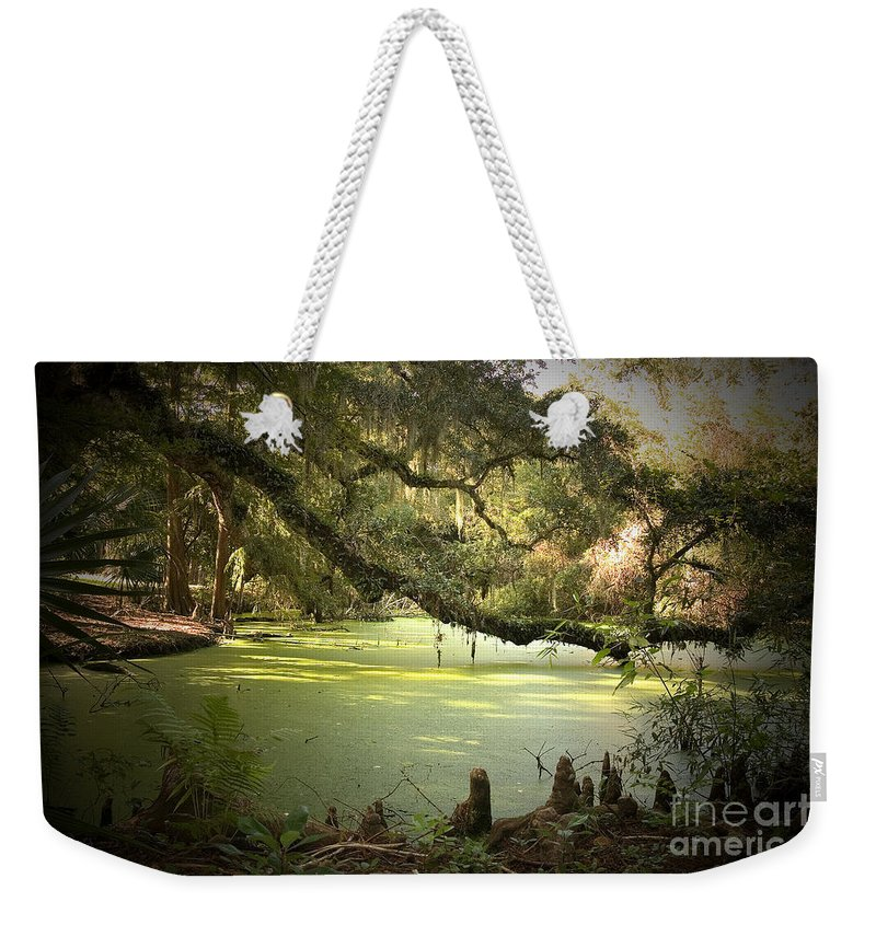 Swamp Weekender Tote Bag featuring the photograph On Swamp's Edge by Scott Pellegrin