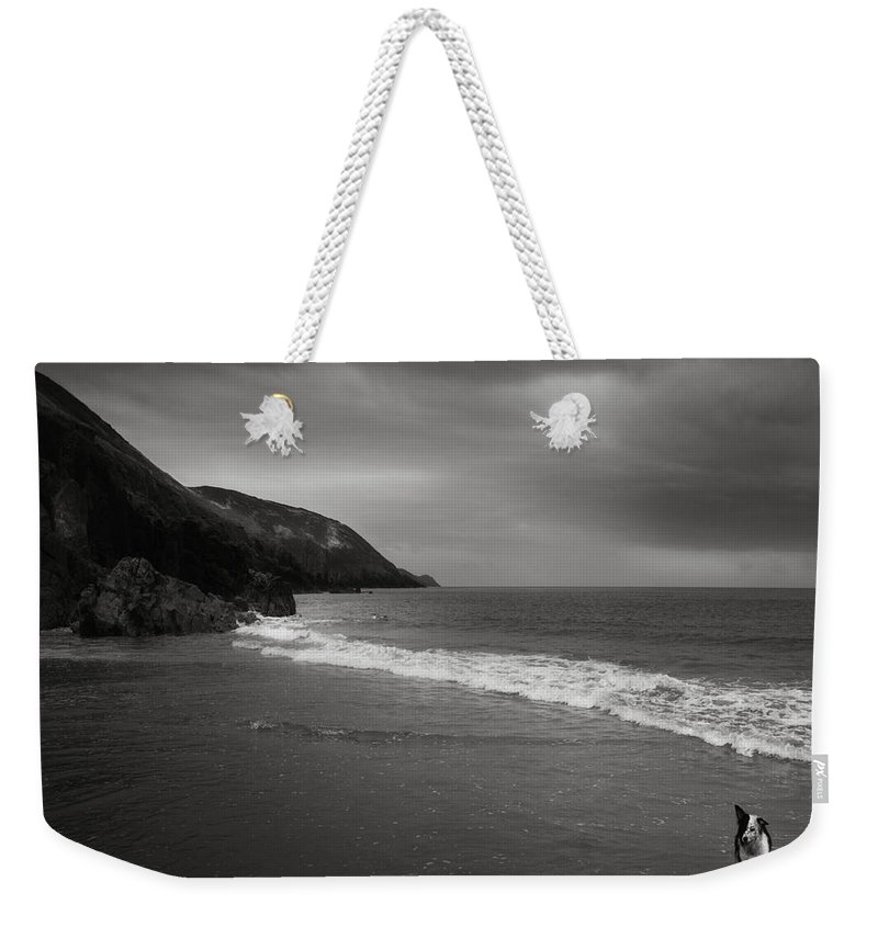 Beach Weekender Tote Bag featuring the photograph On The Beach by Angel Ciesniarska