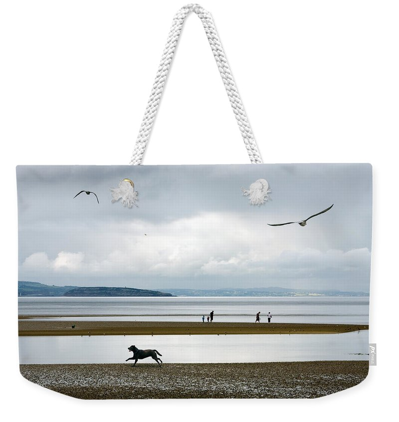 Beach Weekender Tote Bag featuring the photograph On The Beach by Mal Bray