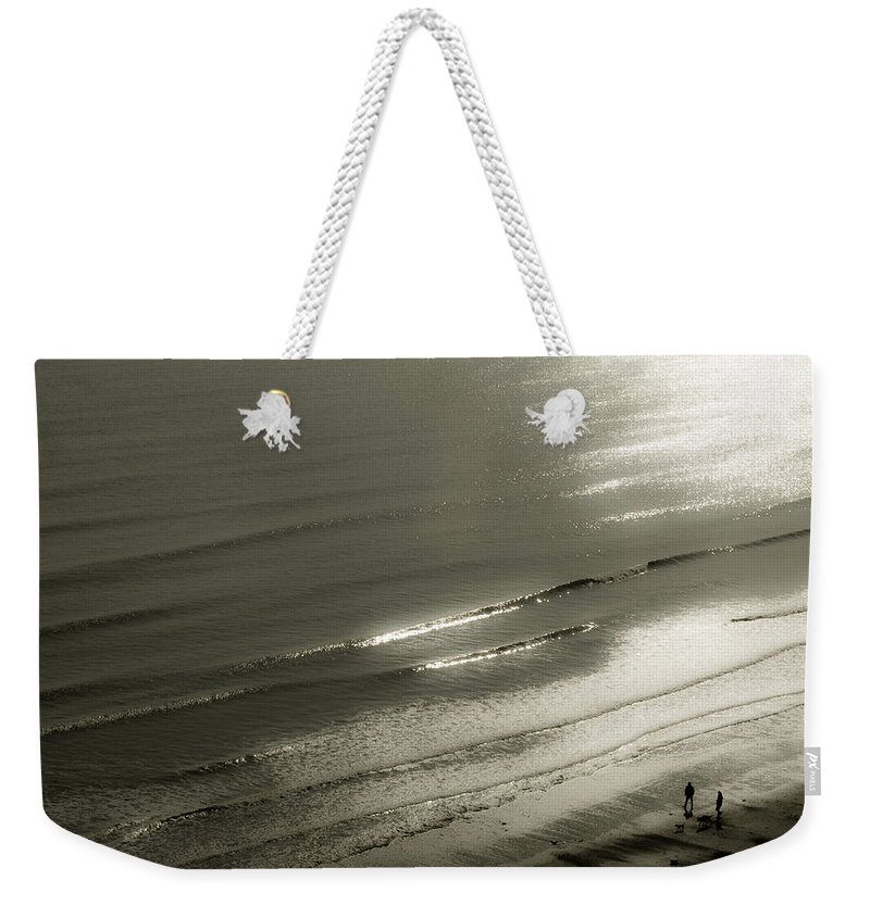 Seaside Weekender Tote Bag featuring the photograph On The Beach by Svetlana Sewell