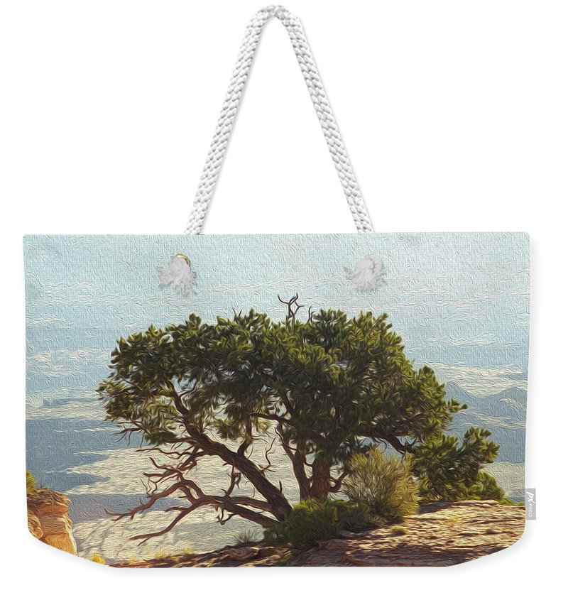 Tree Weekender Tote Bag featuring the photograph On The Edge by Mykel Davis