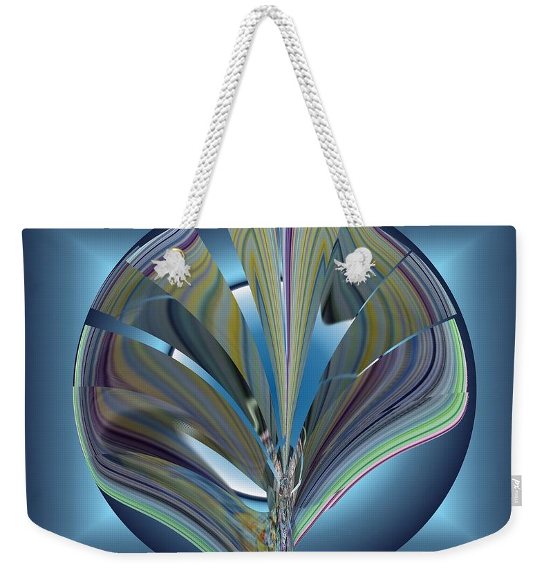 Abstract Weekender Tote Bag featuring the digital art On The Half Shell by Tim Allen