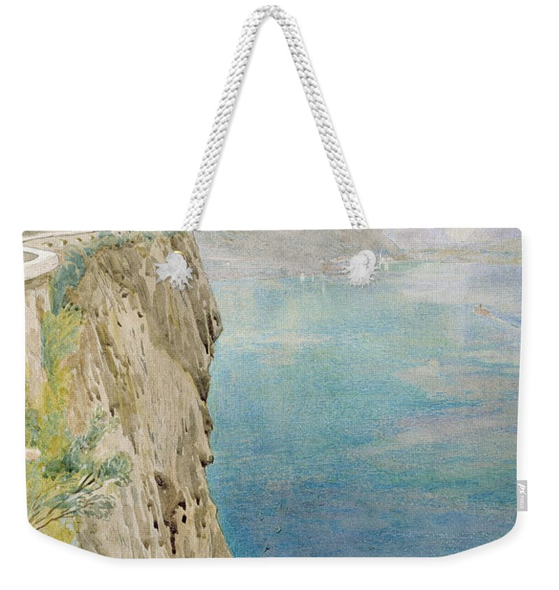 The Weekender Tote Bag featuring the painting On The Italian Coast by Harry Goodwin