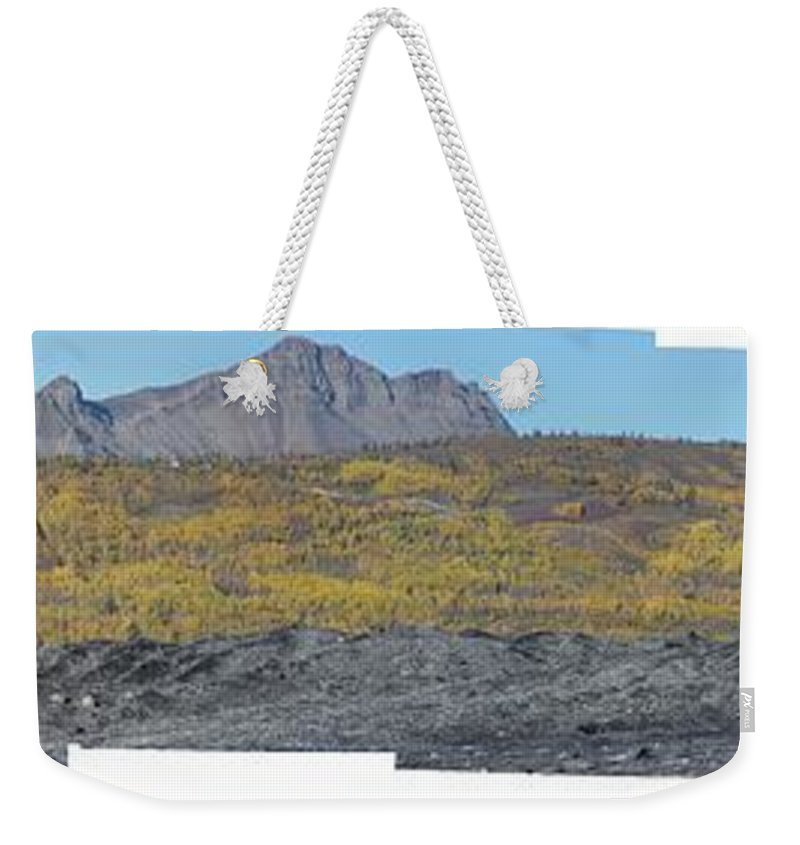 Landscape Weekender Tote Bag featuring the photograph On The Matanuska Glacier by Ron Bissett