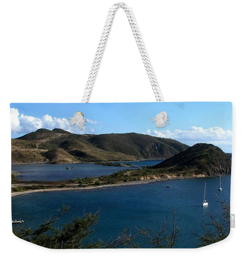 St Kitts Weekender Tote Bag featuring the photograph On The Peninsula by Ian MacDonald