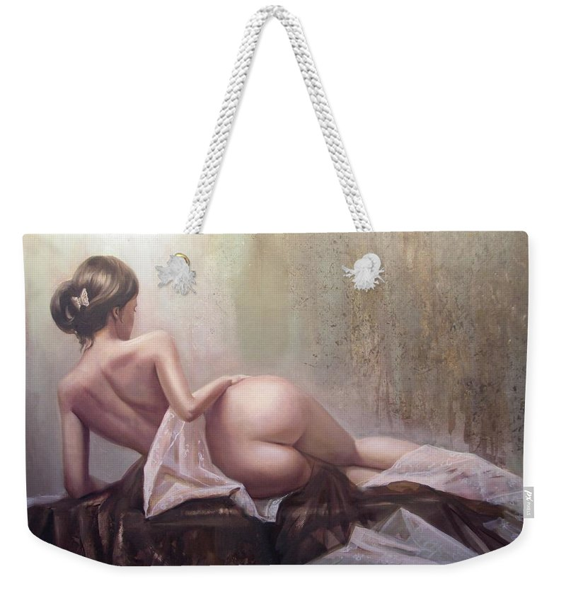 Art Weekender Tote Bag featuring the painting On the podium by Sergey Ignatenko