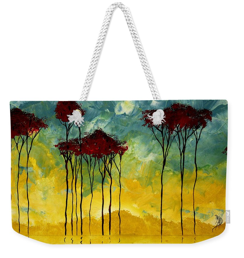 Art Weekender Tote Bag featuring the painting On The Pond By Madart by Megan Duncanson