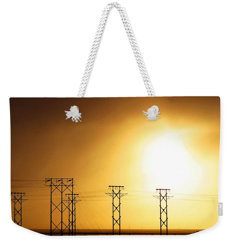 Truck Weekender Tote Bag featuring the photograph On The Road by Anthony Jones