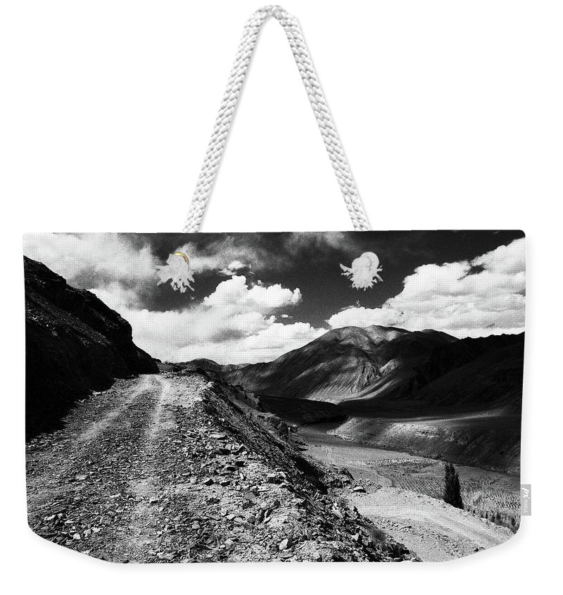 Ladakh Weekender Tote Bag featuring the photograph On the Road by Patrick Klauss