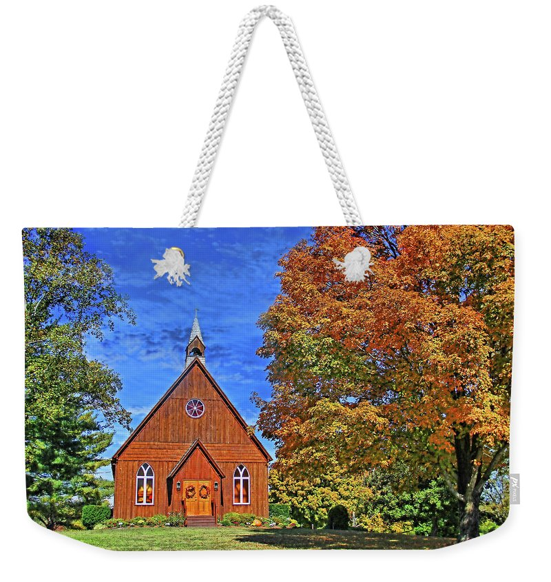 Autumn Weekender Tote Bag featuring the photograph On The Road To Maryville by HH Photography of Florida