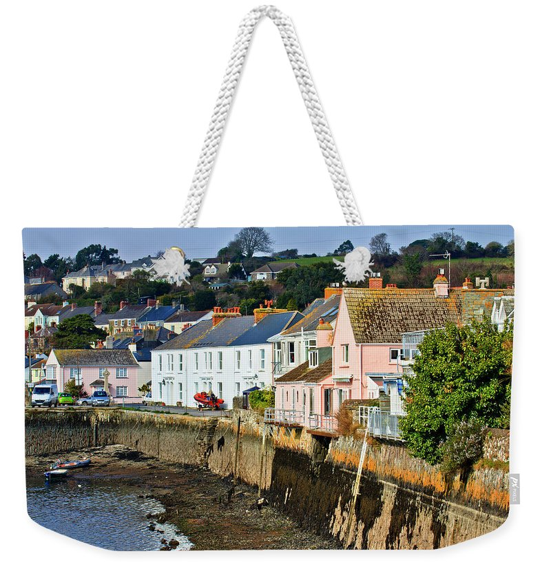 Flushing Weekender Tote Bag featuring the photograph On The Waters Edge by Brian Roscorla