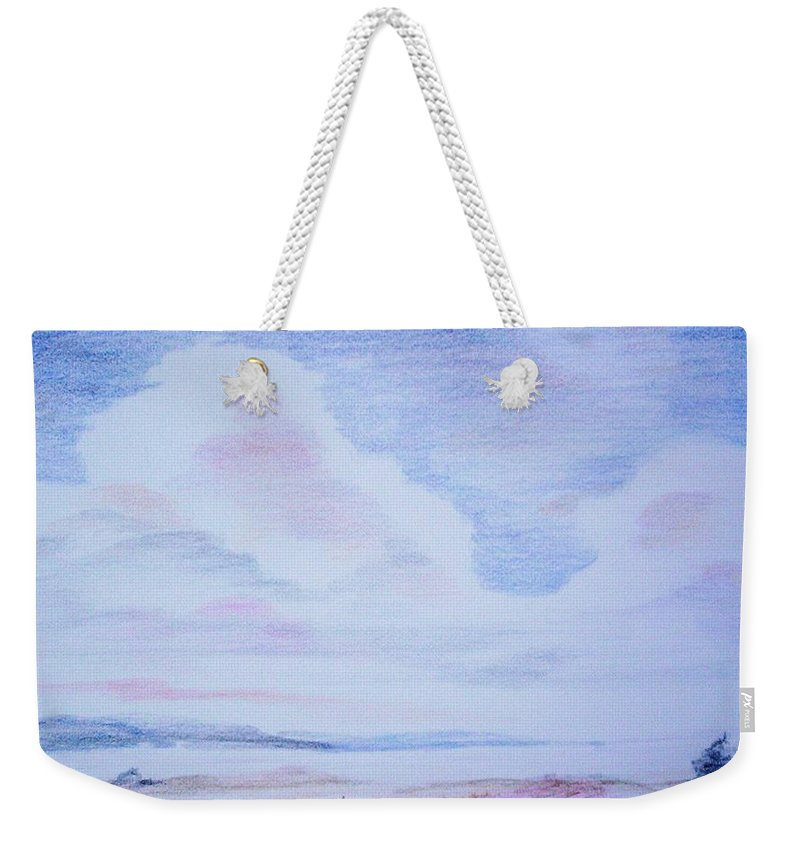 Landscape Painting Weekender Tote Bag featuring the painting On The Way by Suzanne Udell Levinger