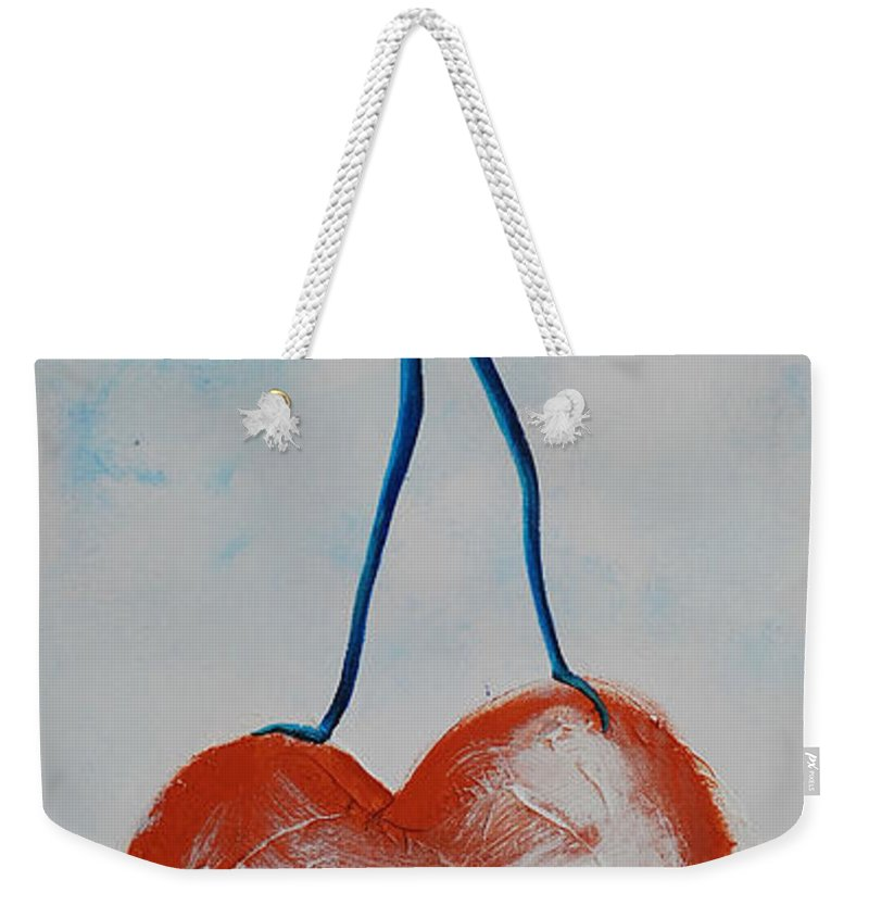 On Top Of The World Weekender Tote Bag featuring the painting On Top Of The World by Catt Kyriacou