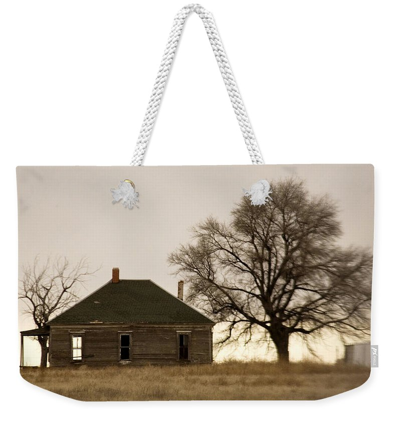 Americana Weekender Tote Bag featuring the photograph Once Upon A Time In West Texas by Marilyn Hunt