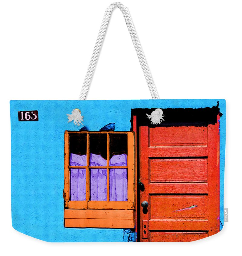 Abstract Weekender Tote Bag featuring the photograph One 63 by Paul Wear