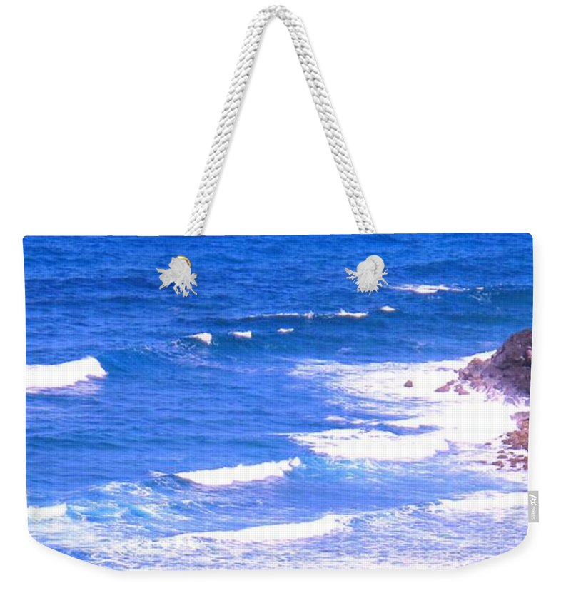 Atlantic Weekender Tote Bag featuring the photograph One After Another by Ian MacDonald