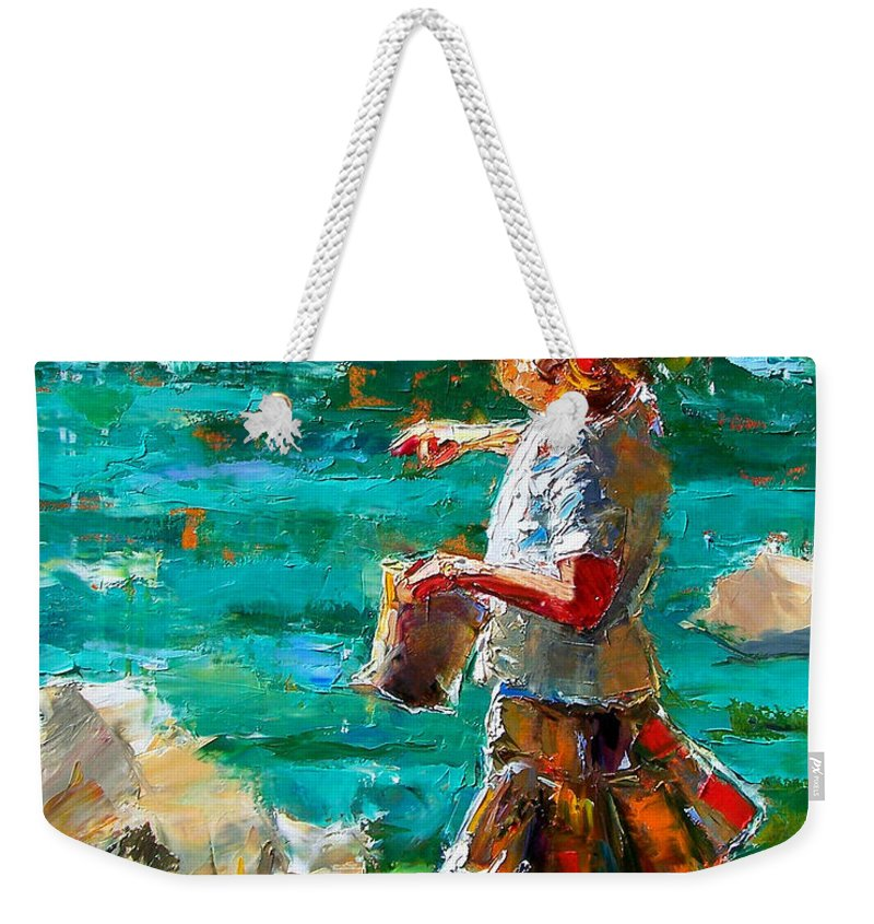 Children Weekender Tote Bag featuring the painting One At A Time by Debra Hurd