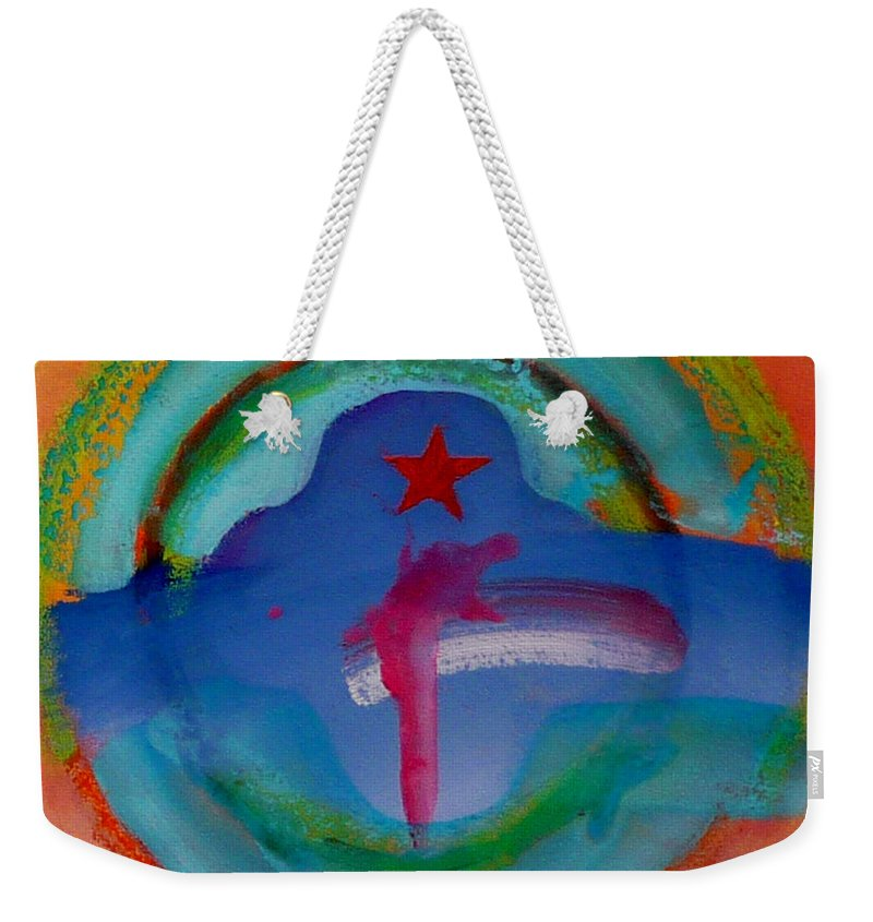 Logo Weekender Tote Bag featuring the painting one by Charles Stuart