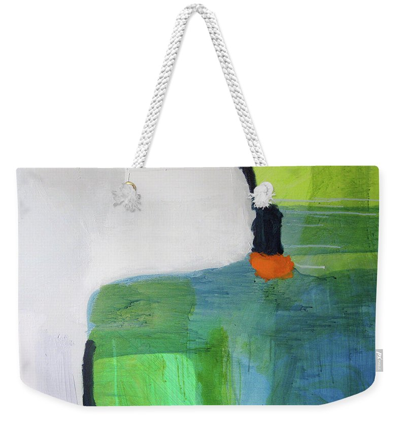 Abstract Weekender Tote Bag featuring the painting One Day I Was Dreaming by Claire Desjardins