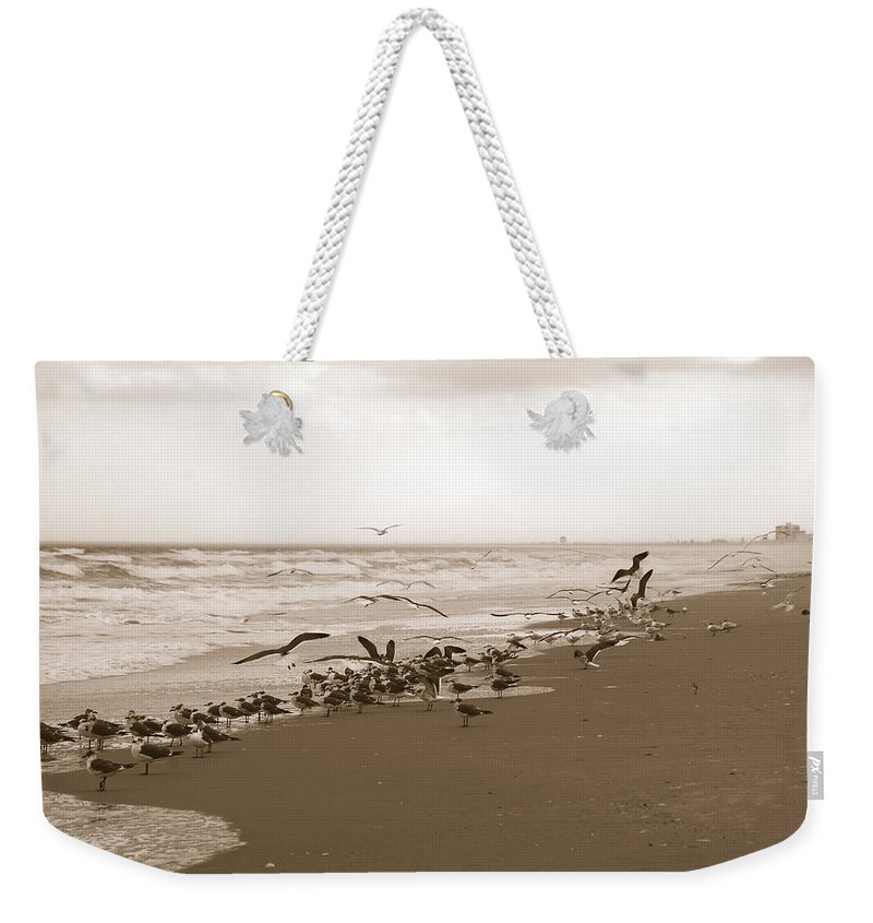 Photography Weekender Tote Bag featuring the photograph One Flap Of A Seagull by Susanne Van Hulst