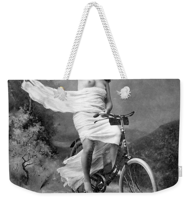 1900 Weekender Tote Bag featuring the photograph One For The Road, C1900 by Granger