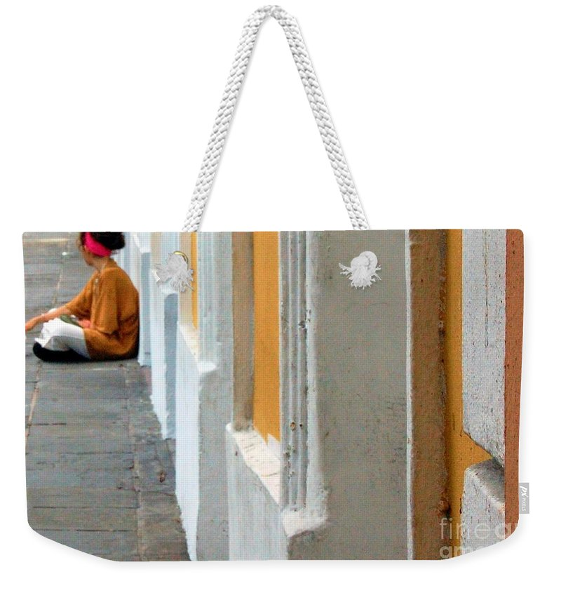 Sidewalk Weekender Tote Bag featuring the photograph One Is The Loneliest Number by Debbi Granruth