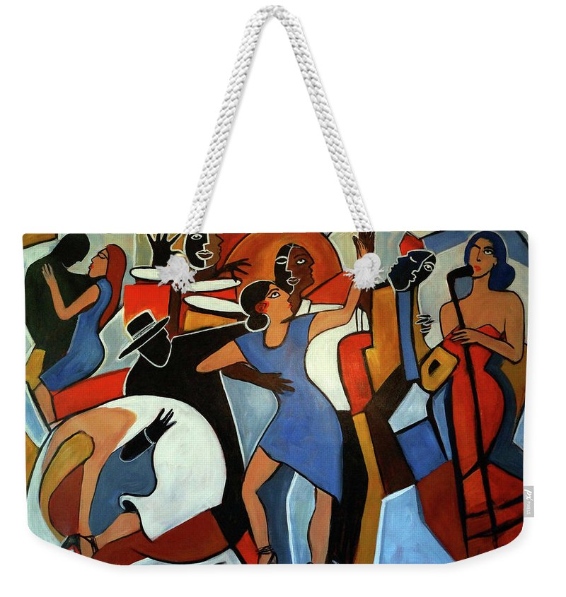 Tango Weekender Tote Bag featuring the painting One Last Tango by Valerie Vescovi