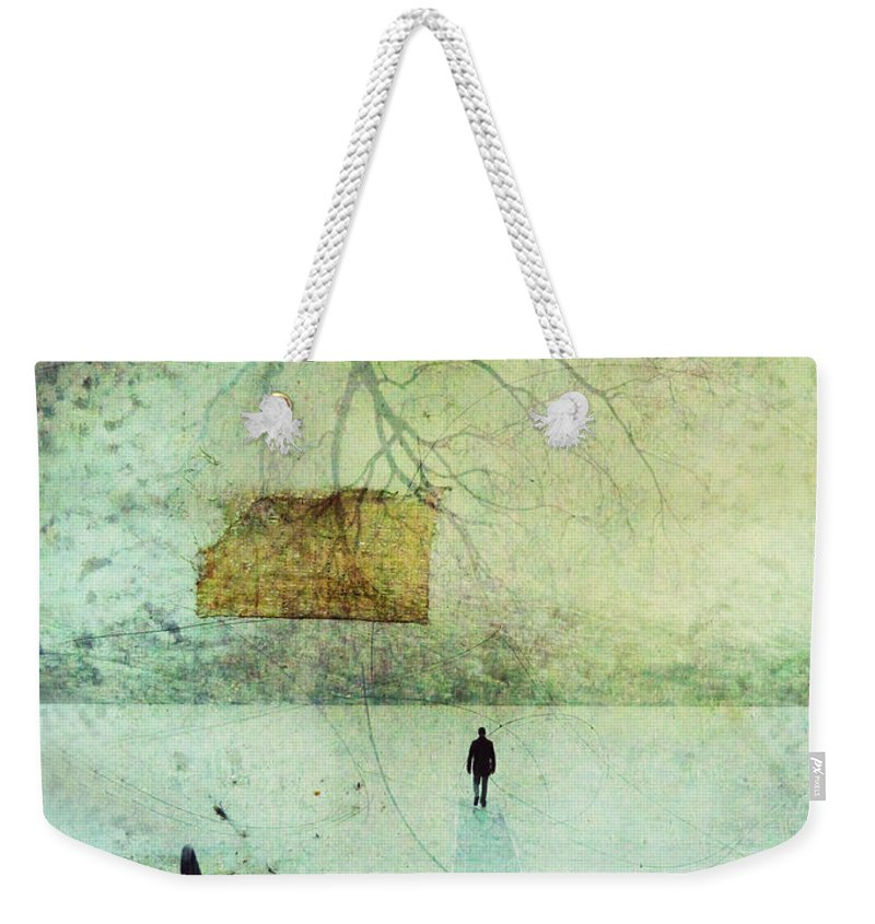 Man Weekender Tote Bag featuring the photograph One Man In The Winter Of His Life by Tara Turner