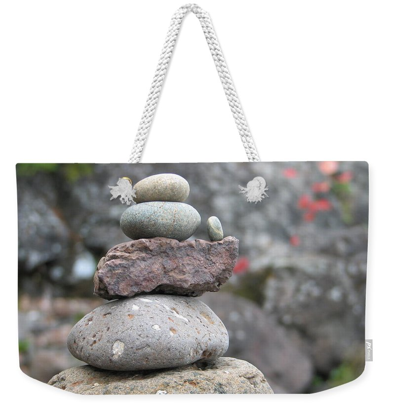 Rocks Weekender Tote Bag featuring the photograph One More by Kelly Mezzapelle