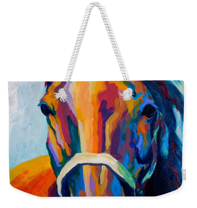 Western Weekender Tote Bag featuring the painting One Of The Boys by Marion Rose
