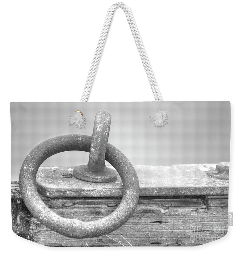 Abstract Weekender Tote Bag featuring the photograph One Ring by Dorothy Hilde