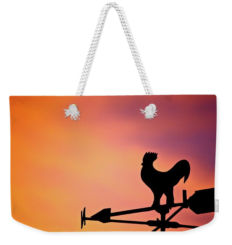 Sun Weekender Tote Bag featuring the photograph One Sunday Morning by Diana Hatcher