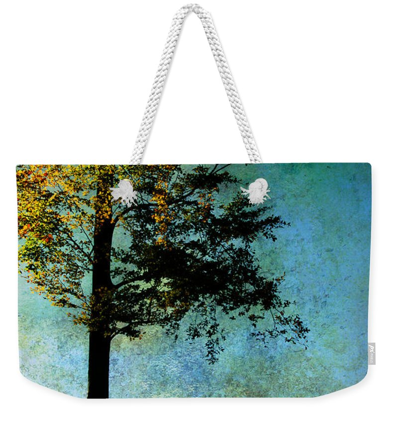 Tree Weekender Tote Bag featuring the photograph One Tree by Ann Garrett