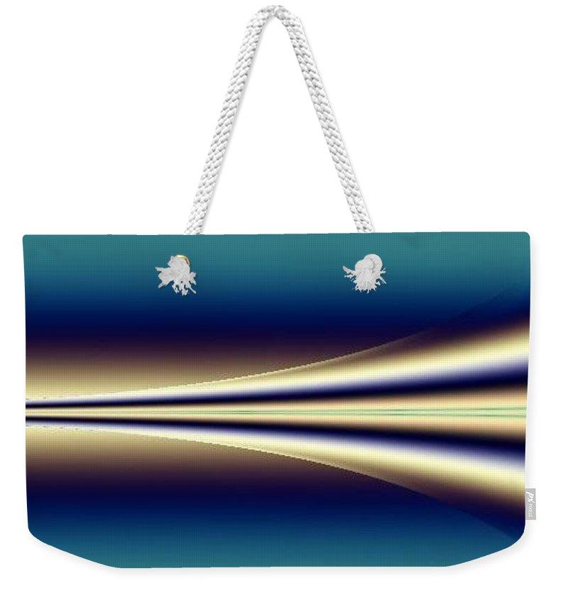 Digital Art Weekender Tote Bag featuring the digital art One Way II by Dragica Micki Fortuna