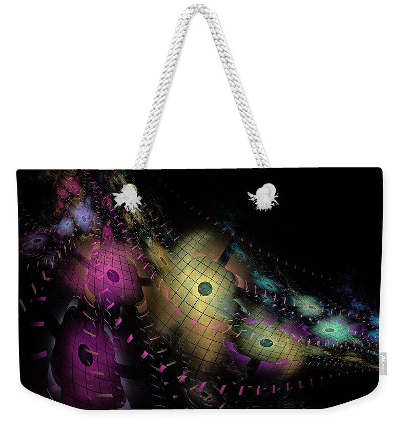 Nirvanablues Weekender Tote Bag featuring the digital art One World No.6 - Fractal Art by NirvanaBlues