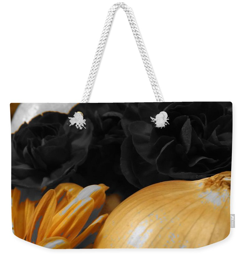 Abstract Weekender Tote Bag featuring the photograph Onion by Julie Pappas
